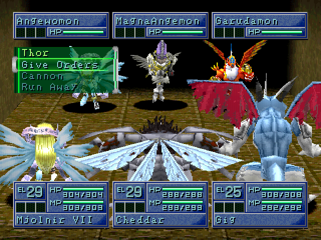 Digimon World 2 fight scene
