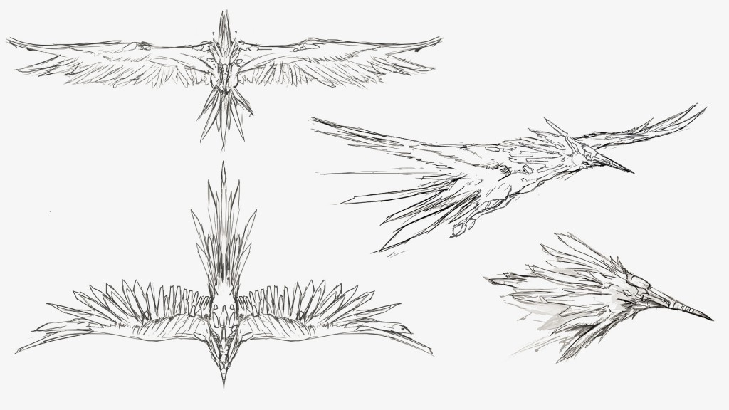 """""""The Cloud."""" Elusive, this bird-like being lacks the armor of its submarine counterpart, but harbors its own secrets. Though it may not have as visible a role in its world's ecosystem, it nonetheless plays a vital role in the lifeforce of its sphere."""