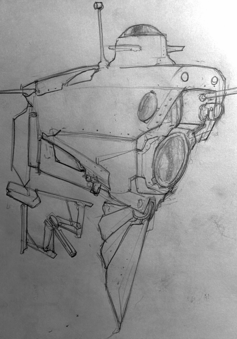 archaeologist sub sketch 1 #innerspace