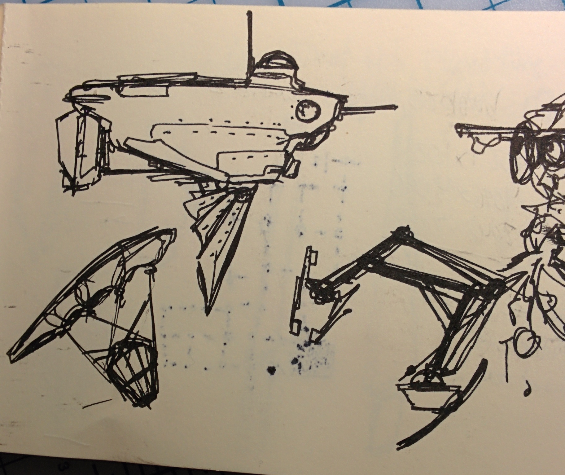 archaeologist sub sketch 2 #innerspace