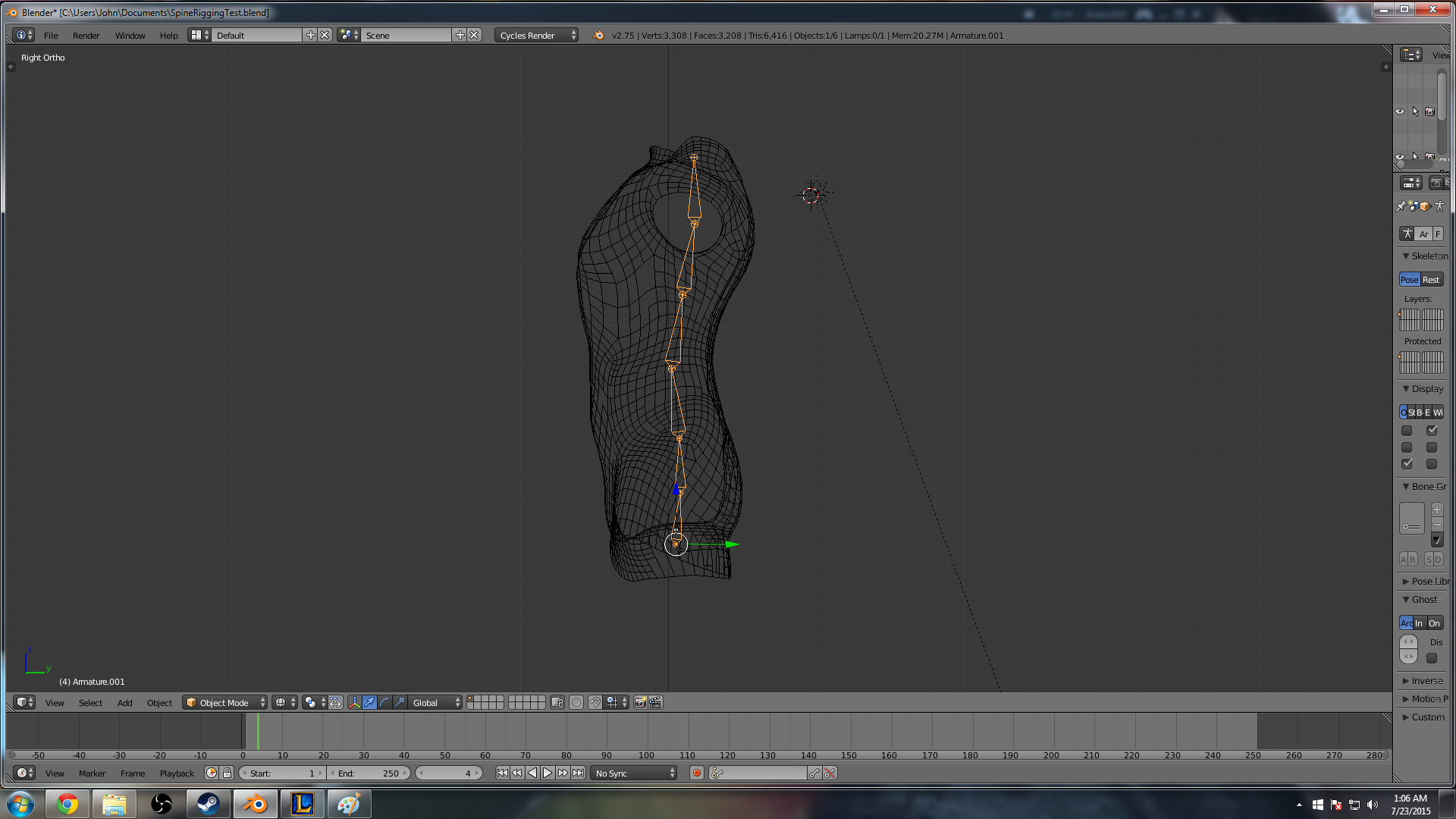 Basic Spine Rigging in Blender